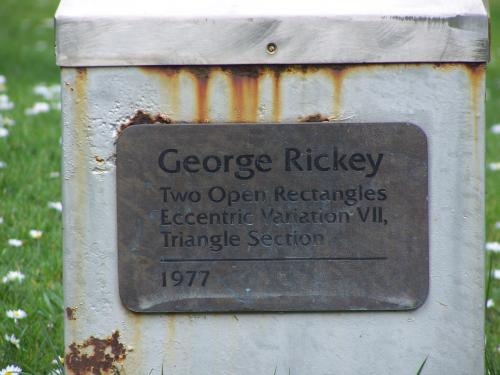 'Two Open Rectangles Eccentric Variation VII Triangle Section' by George Rickey
