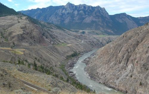 Looking west toward Lillooet.