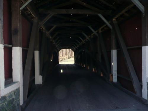 Inside the Kurtz's Mill Covered Bridge