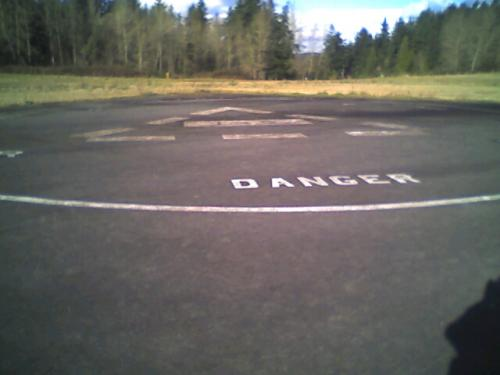 Helipad, which looked freshly painted a year ago...