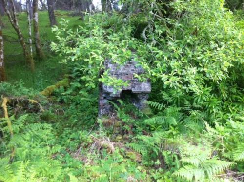 Remains of an old building next to Killin Junction.
