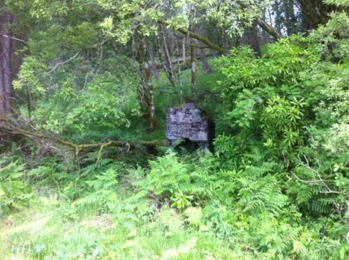 Building remains at Killin Junction.