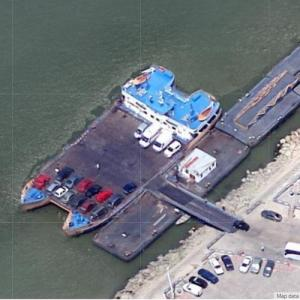 Ferry on the Danube at Galati (Google Maps)