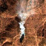 North Korean Forest Fire (Google Maps)