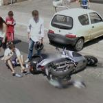 Motorcycle accident (StreetView)