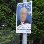 Ned O'Keeffe campaign poster