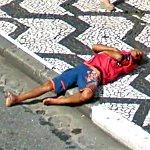 Passed out on the curb (StreetView)