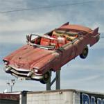 1956 Cadillac Eldorado On A Pole (StreetView)