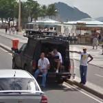 Recording equipment in a vehicle near Copacabana beach (StreetView)