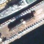 HMCS Chicoutimi (SSK-879) in dry-dock (Google Maps)