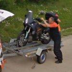 KTM Crew Loading a Motorcycle