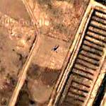 Helicopter Near Bombed Airstrip (Google Maps)