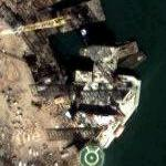 Oil rigs in port (Google Maps)