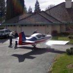 Airplane in the driveway (StreetView)