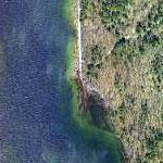 Submerged Railroad (Google Maps)