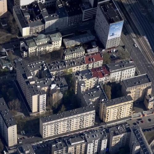 Section of the Warsaw Ghetto wall (Google Maps)