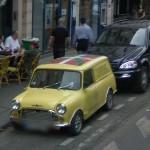 Car with Euscadi flag (StreetView)