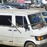 Car with police cordon (StreetView)