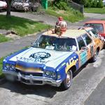 """King of the Jews. King of the Road"" Art car (StreetView)"