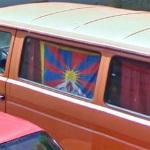 Flag of Tibet (StreetView)