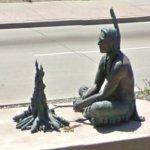 Potawatomi Indian sculpture (StreetView)