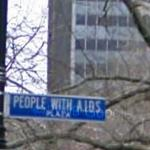 """People With A.I.D.S. Plaza"" (StreetView)"
