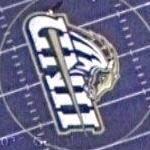 University of New Haven's blue football field (w/ game in progress)