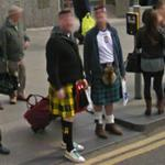 Guys with kilts (StreetView)
