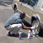 Cleaning the wheel (StreetView)