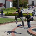 Jumping for the Google Camera (StreetView)