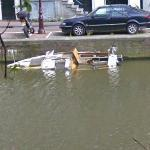 Sinking boat (StreetView)
