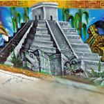 Mayan Style Graffiti/Mural (StreetView)