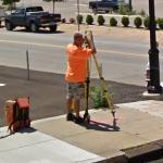 Surveyor at work (StreetView)