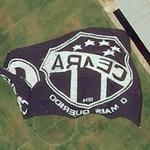 """Giant """"Cearamor"""" flag (fan club of Ceará Sporting Club)"""