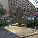 Partisan memorial in Piazzale Loreto (StreetView)