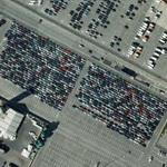 Optimum parking of about 1000 cars (Google Maps)
