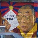 """Free Tibet"" Graffiti (StreetView)"