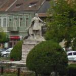 Áron Gábor's statue (StreetView)