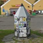 Pencil shaped information stand