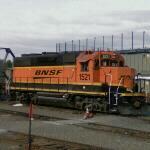 BNSF 1521 hauling Boeing 737 fuselages (StreetView)