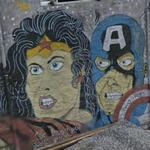 Superheroes graffiti