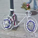 Alice Swanson's Ghost Bike (StreetView)