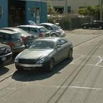 Damaged Mercedes CLS (StreetView)