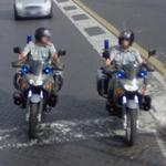 Police motorcycles (StreetView)