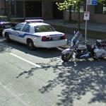Vancouver Police Motorcycle and Car (StreetView)