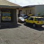 Fire truck and car (StreetView)