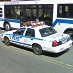 NYPD patrol car (StreetView)