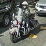 Motorcycle cop (StreetView)