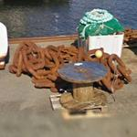 Pile of anchor chain (StreetView)