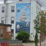 Windsor tall ship mural (StreetView)